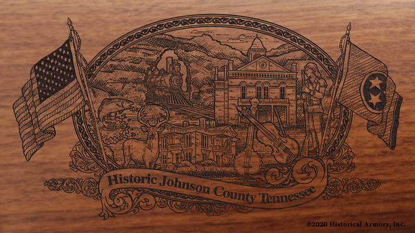 Johnson County Tennessee Engraved Rifle