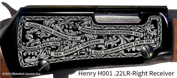 Johnson County Texas Engraved Rifle