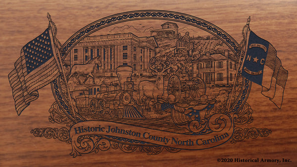 Johnston County North Carolina Engraved Rifle Buttstock