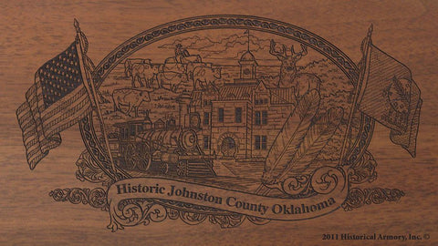 johnston county oklahoma engraved rifle buttstock