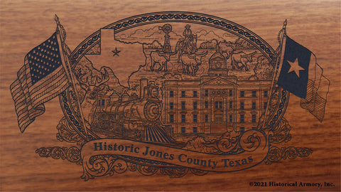 jones county texas engraved rifle buttstock