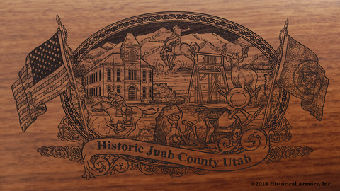 Juab County Utah Engraved Rifle