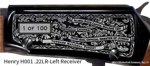 Juneau County Alaska Engraved Rifle
