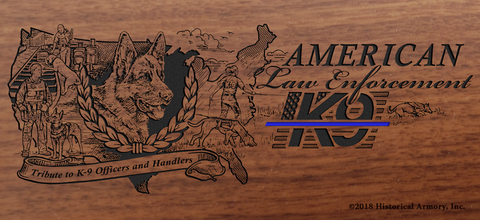 American K-9 Law Enforcement Limited Edition Engraved Rifle