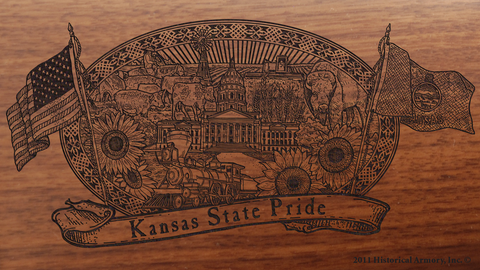 Kansas State Pride Engraved Rifle