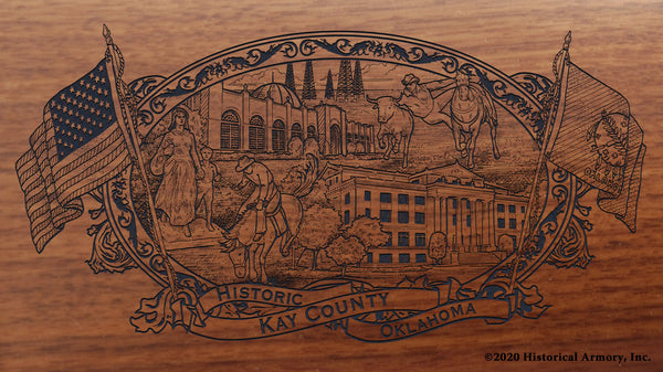 kay county oklahoma engraved rifle buttstock
