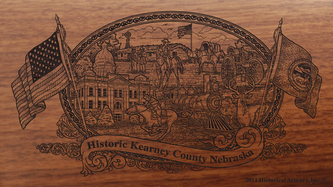 Kearney County Nebraska Engraved Rifle