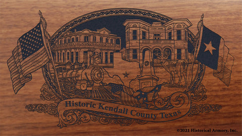 kendall county texas engraved rifle buttstock