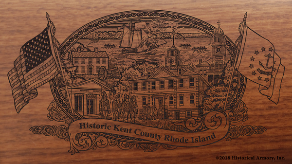 Kent County Rhode Island Engraved Rifle