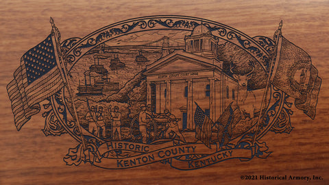 Kenton County Kentucky Engraved Rifle Buttstock