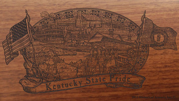 kentucky state engraved rifle buttstock
