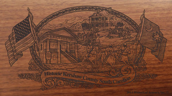Kershaw County South Carolina Engraved Rifle