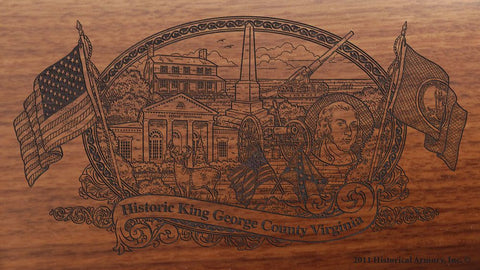 king george county virginia engraved rifle buttstock
