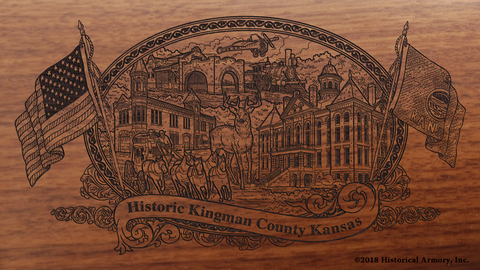 Kingman County Kansas Engraved Rifle