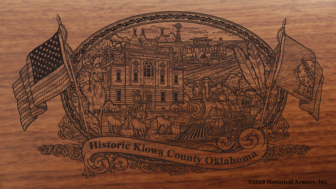 Kiowa County Oklahoma Engraved Rifle