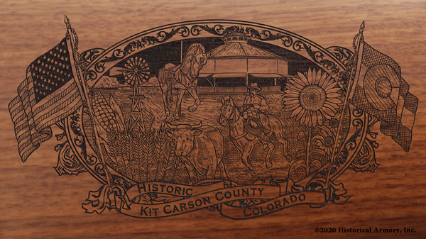Kit Carson County Colorado Engraved Rifle
