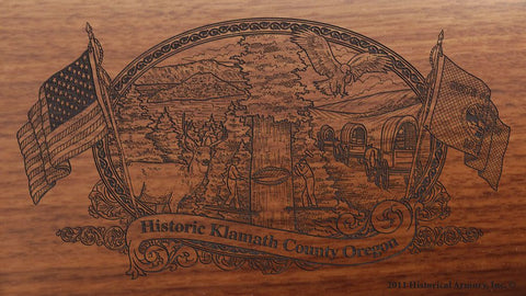 klamath county oregon engraved rifle buttstock