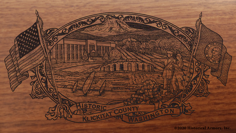 Klickitat County Washington Engraved Rifle