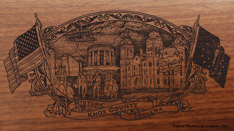 Knox County Indiana Engraved Rifle