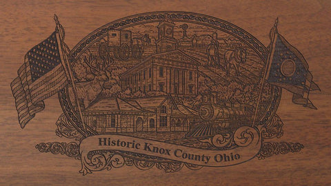 knox county ohio engraved rifle buttstock