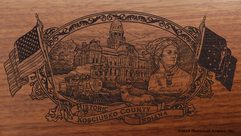 Kosciusko County Indiana Engraved Rifle