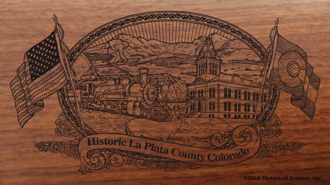 La Plata County Colorado Engraved Rifle