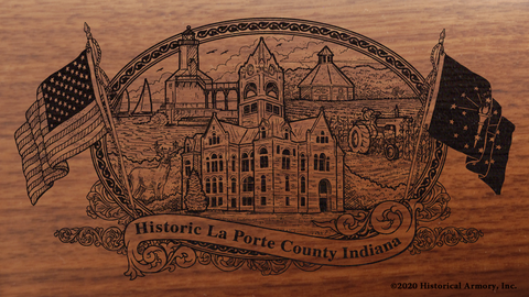 La Porte County Indiana Engraved Rifle