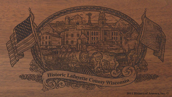 lafayette county wisconsin engraved rifle buttstock