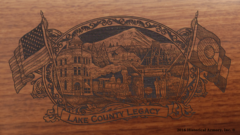 Lake County Colorado Engraved Rifle
