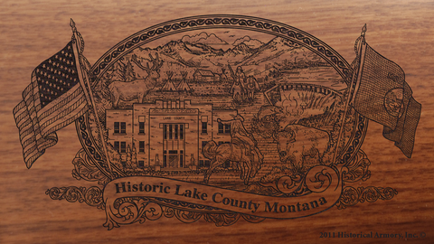 Lake County Montana Engraved Rifle