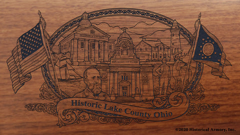Lake County Ohio Engraved Rifle Buttstock