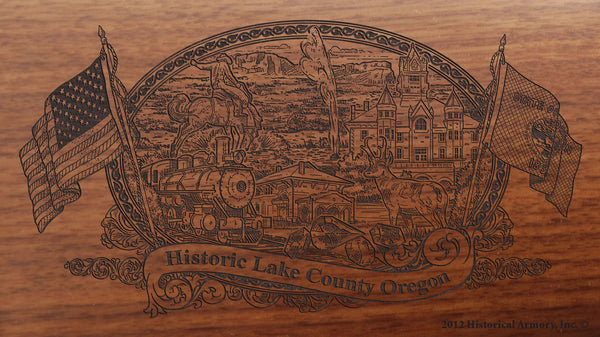 lake county oregon engraved rifle buttstock