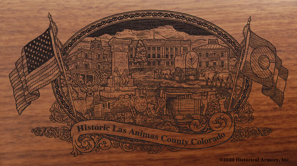Las Animas County Colorado Engraved Rifle