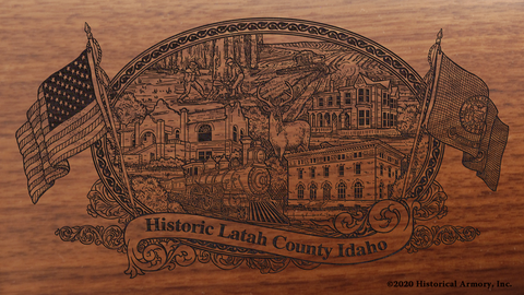 Latah County Idaho Engraved Rifle