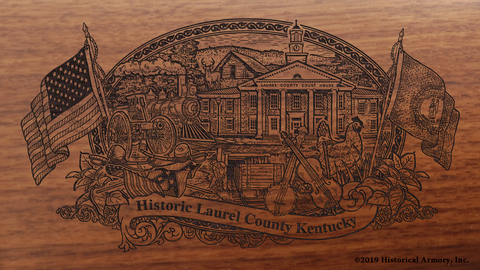Laurel County Kentucky Engraved Rifle