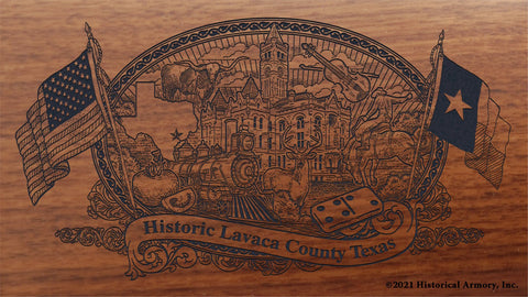 lavaca county texas engraved rifle buttstock