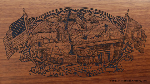 Lawrence County Kentucky Engraved Rifle Buttstock