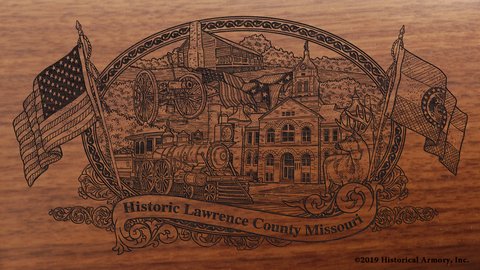 Lawrence County Missouri Engraved Rifle