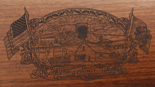 Lebanon County Pennsylvania Engraved Rifle