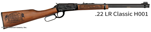lee county texas engraved rifle h001