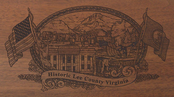 lee county virginia engraved rifle buttstock