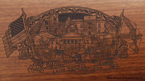 Leon County Florida Engraved Rifle