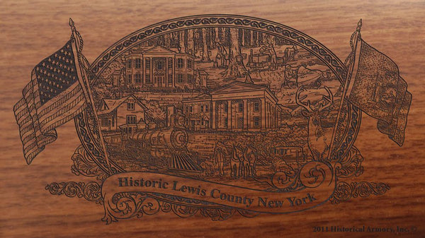 lewis county new york engraved rifle buttstock