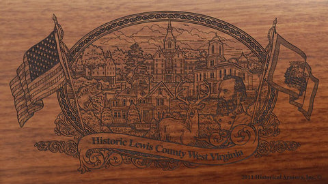 lewis county west virginia engraved rifle buttstock