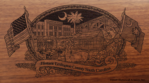 Lexington County South Carolina Engraved Rifle