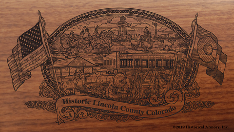 Lincoln County Colorado Engraved Rifle