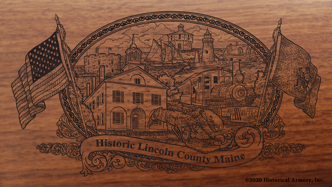 Lincoln County Maine Engraved Rifle
