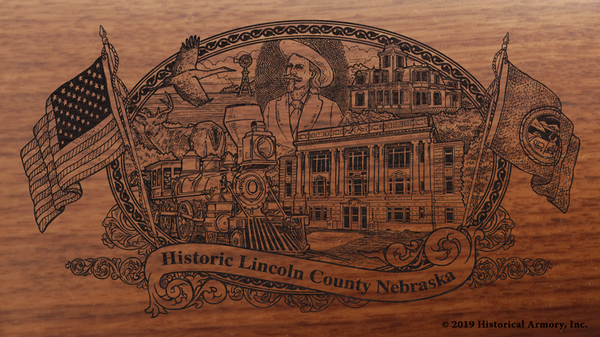 Lincoln County Nebraska Engraved Rifle