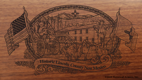 Lincoln County New Mexico Engraved Rifle