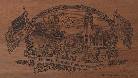 lincoln county wisconsin engraved rifle buttstock